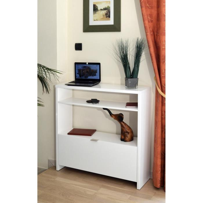 shoes console meuble a chaussures 93 cm blanc haute brillance 238226. Black Bedroom Furniture Sets. Home Design Ideas