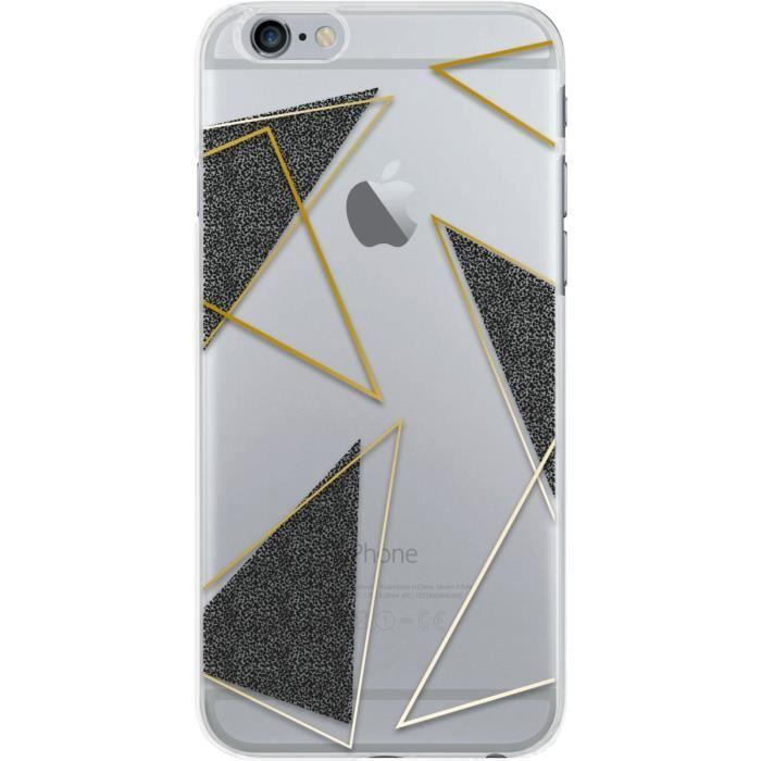 bigben connected coque iphone 6 6s triangles gris transparente 449435. Black Bedroom Furniture Sets. Home Design Ideas