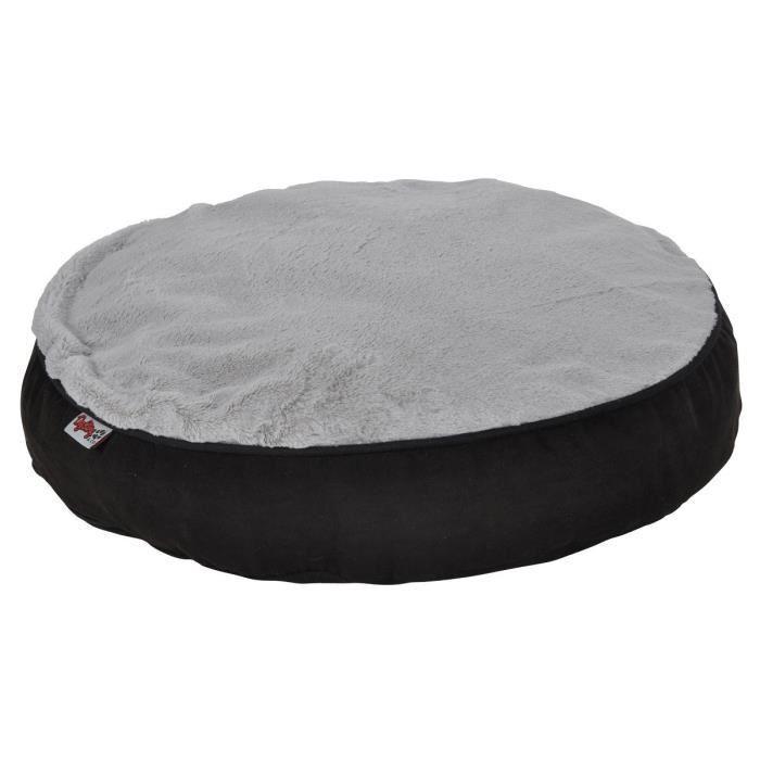 ami confort coussin rond d houssable design polaire 60x8 cm noir et gris pour chien 357740. Black Bedroom Furniture Sets. Home Design Ideas