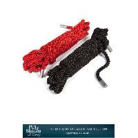 Cordes BDSM Fifty Shades of Grey - 2 Cordes de bondage -Restrain me- Noir/Rouge - 2 x 5m