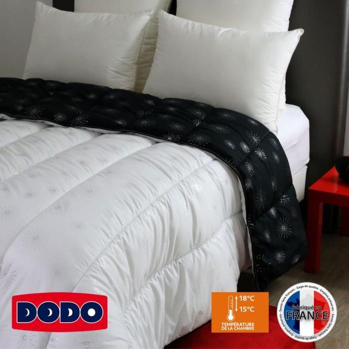 dodo couette chaude et d corative astral 220x240 cm noir et blanc 303838. Black Bedroom Furniture Sets. Home Design Ideas