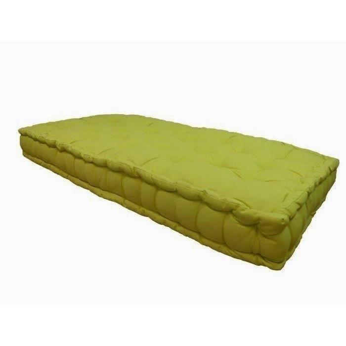aucune matelas de sol double 60x120x15 cm vert anis 323102. Black Bedroom Furniture Sets. Home Design Ideas