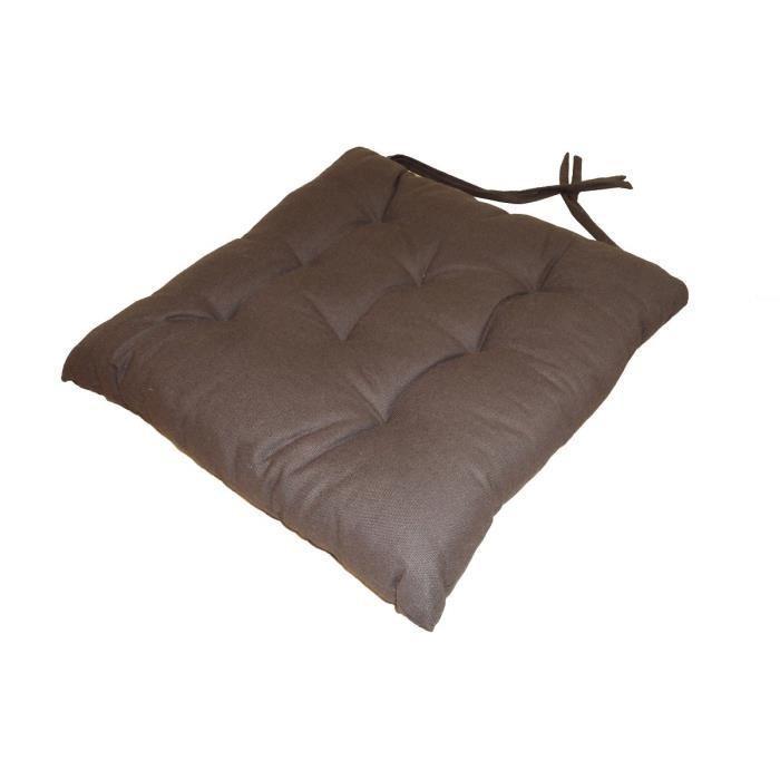 aucune galette de chaise 8pts 40x40x4 cm chocolat 286338. Black Bedroom Furniture Sets. Home Design Ideas