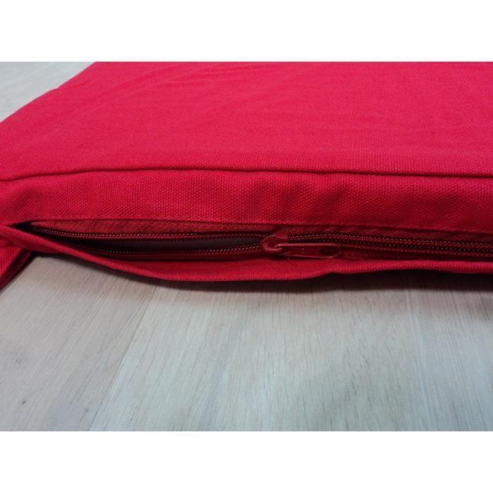 aucune galette de chaise carree 40x40x4 cm rouge 238795. Black Bedroom Furniture Sets. Home Design Ideas