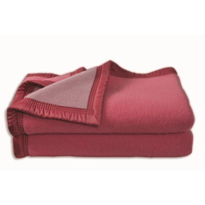 couverture aubisque en laine woolmark 180x220 cm bois de rose et dragee 282283. Black Bedroom Furniture Sets. Home Design Ideas