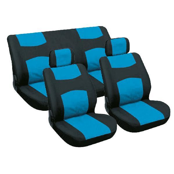 Couvre-sieges 6 pieces bleu/noir