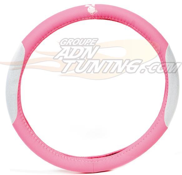 Adnauto couvre volant evo bunny rose bc corona 62856 for Couvre volant fourrure