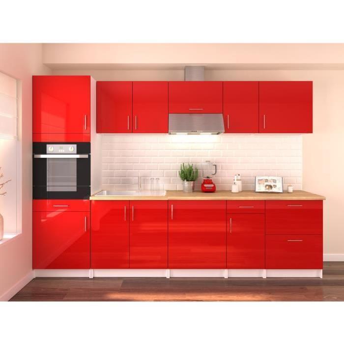 aucune alceo cuisine complete 2m40 noir mat sans. Black Bedroom Furniture Sets. Home Design Ideas