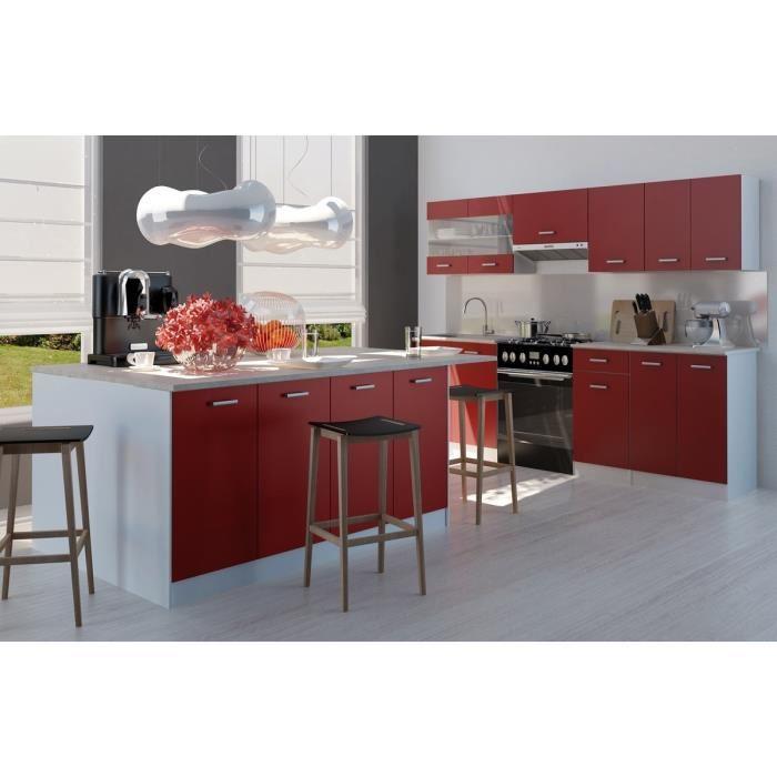 ultra cuisine complete avec lot m rouge sans electromenager 366049. Black Bedroom Furniture Sets. Home Design Ideas