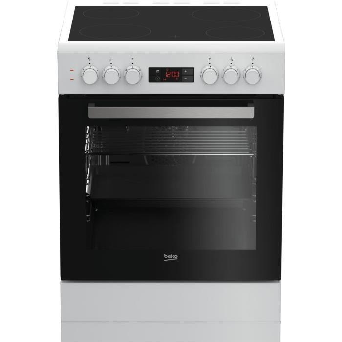 Beko fze67300wcs cuisiniere table vitroc ramique 4 zones for Piano cuisine electrique