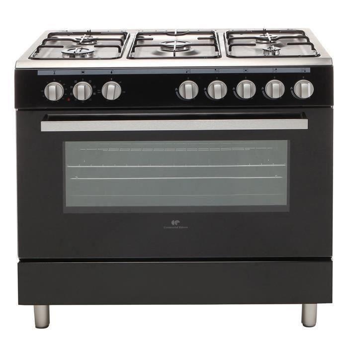 continental edison cecp9060mb cuisiniere noire 263961. Black Bedroom Furniture Sets. Home Design Ideas