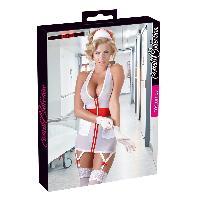Deguisements Cottelli - Tenue infirmiere blanche et rouge - XL