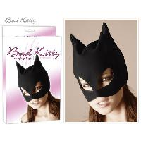 Deguisements sexy femme Bad Kitty - Masque de catwoman en nubuck look cuir