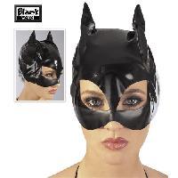 Deguisements sexy femme Black Level - Masque de catwoman en vinyle