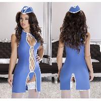Deguisements sexy femme LRDP - Tenue hotesse Anita XXL/XXXL