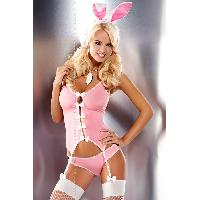 Deguisements sexy femme Obsessive - Ensemble complet guepiere Bunny - L-XL