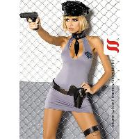 Deguisements sexy femme Obsessive - Tenue sexy Police 5 pieces - Taille L/XL