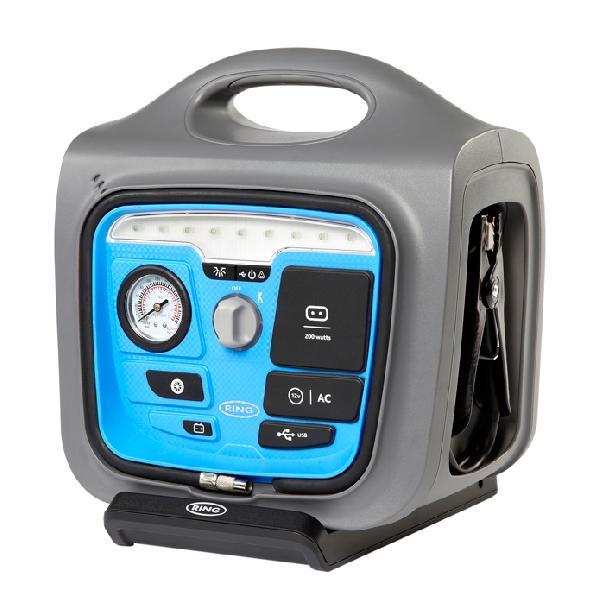 Demarreur rapide 12v 17Ah +compress air+stat charg+convertis 200w USB2.1A 650A