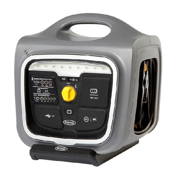 Demarreur rapide 12v 33Ah+station charge+convertiss 300w + USB 2.1A +LED