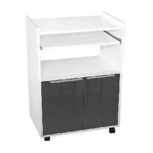aucune desserte 60 cm grise haute brillance 239591. Black Bedroom Furniture Sets. Home Design Ideas