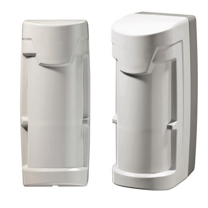 diagral lot de 2 d tecteurs de mouvement ext rieurs compatible animaux s curit d tection 239653. Black Bedroom Furniture Sets. Home Design Ideas