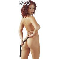 Domination Zado - Mini-fouet - Noir - Taille 45cm