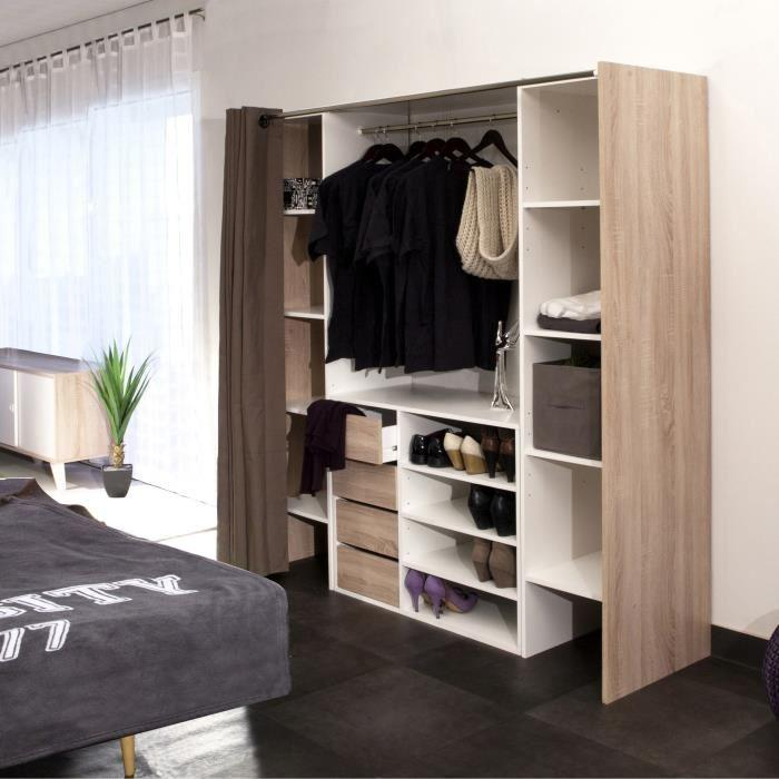 emejing placard avec rideau contemporary amazing house. Black Bedroom Furniture Sets. Home Design Ideas