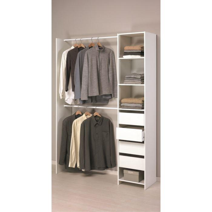 aucune skirt kit placard 203cm blanc 264149. Black Bedroom Furniture Sets. Home Design Ideas