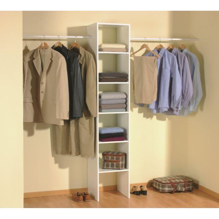 aucune skirt kit placard extensible 140 240cm blanc 276689. Black Bedroom Furniture Sets. Home Design Ideas