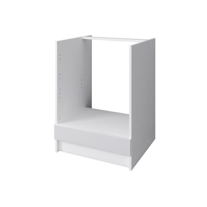 Aucune city meuble bas four 60 cm laqu blanc brillant for City meuble catalogue