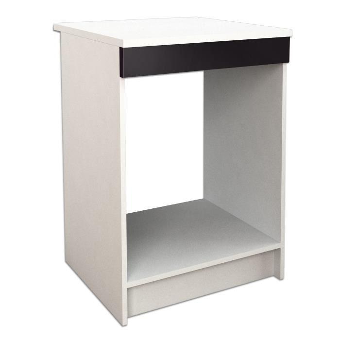 start caisson bas de cuisine pour four 60 cm noir haute. Black Bedroom Furniture Sets. Home Design Ideas