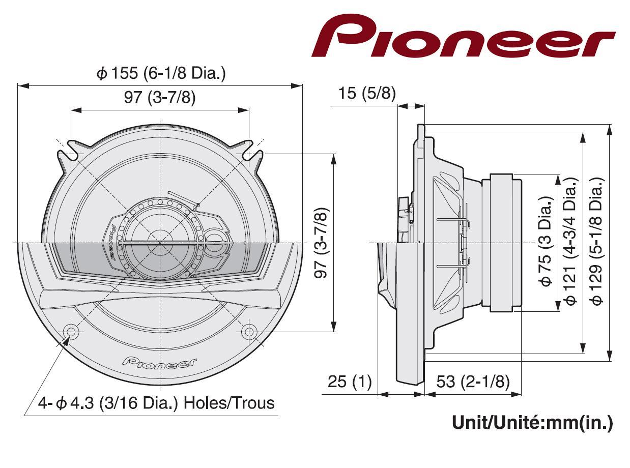 enceinte haut parleur de voiture pioneer ts a1323i 3 voies. Black Bedroom Furniture Sets. Home Design Ideas