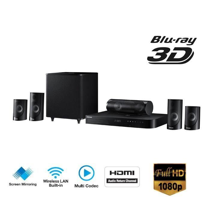 Samsung ht j5500 home cin ma 5 1 1000w blu ray 3d wifi - Home cinema bluetooth ...