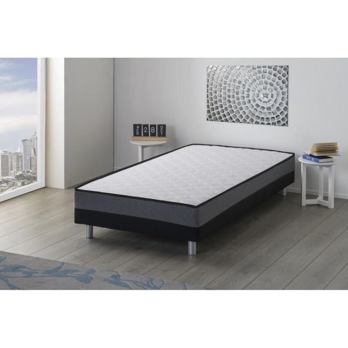 deko dream ensemble matelas sommiers 2x80x200cm 14cm mousse polyurethane fermete reglable 28kg. Black Bedroom Furniture Sets. Home Design Ideas
