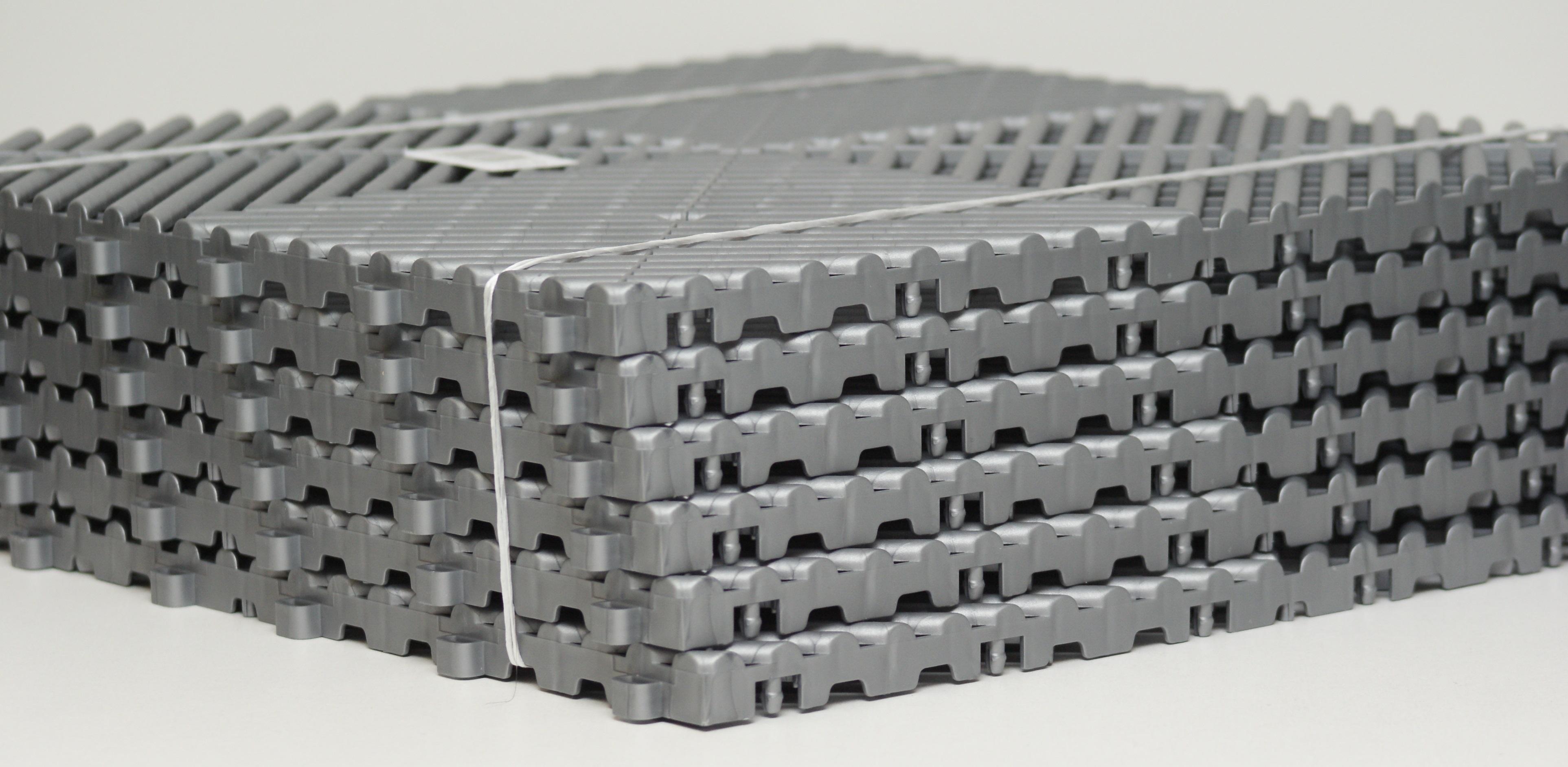 Adnauto 6x dalles plastiques 40x40cm gris alu plasto rip 433017 - Dalles plastique pour garage ...