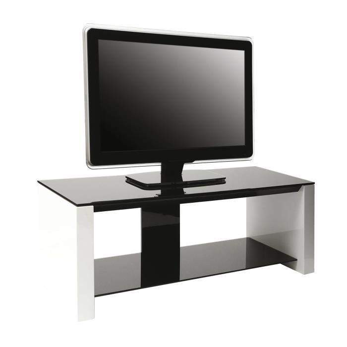erard erard smart meuble tv verre et bois 2 plateaux 386515. Black Bedroom Furniture Sets. Home Design Ideas