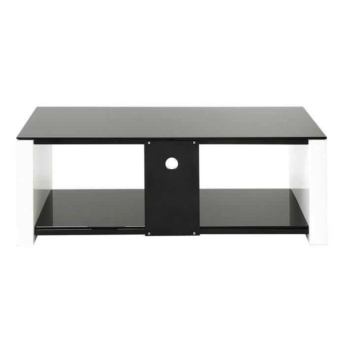 Erard erard smart meuble tv verre et bois 2 plateaux 386515 for Meuble tv bois et verre