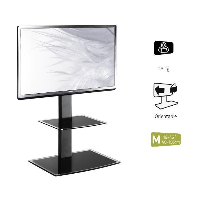 Erard erard studio 600 meuble tv support orientable 23 a for Meuble tv orientable