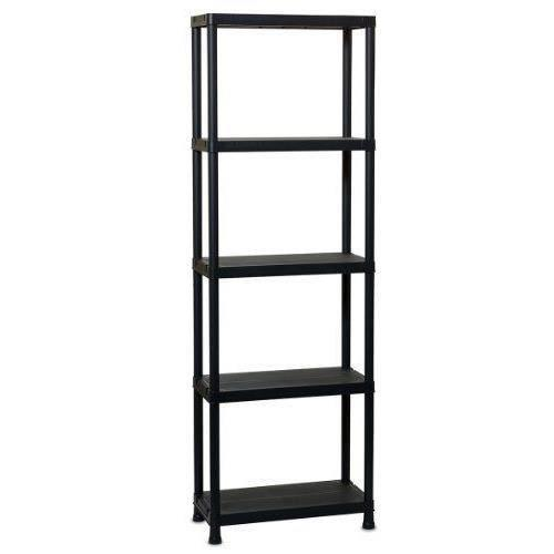 aucune etagere plastique 5 niveaux 349033. Black Bedroom Furniture Sets. Home Design Ideas
