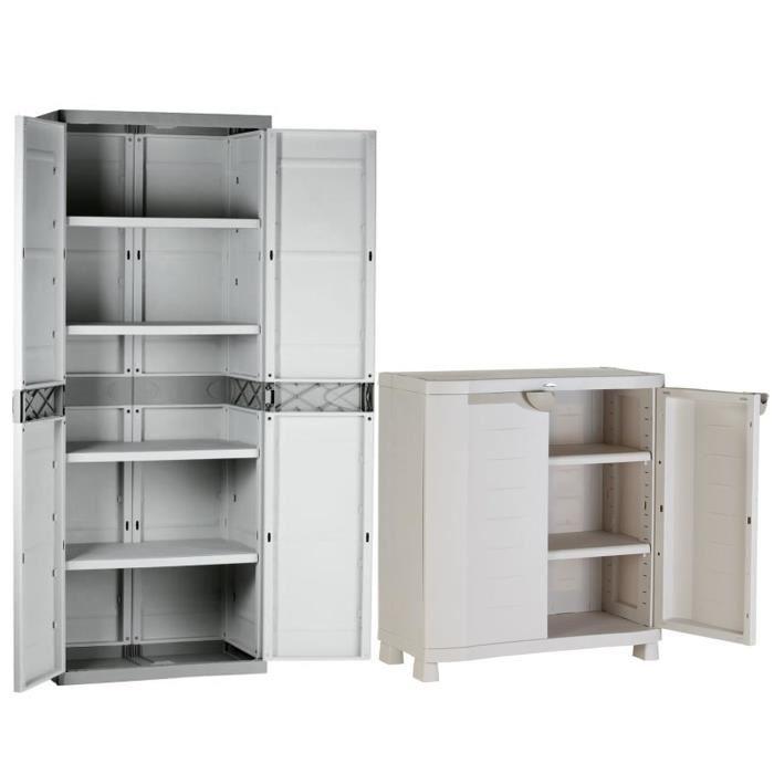 armoire basse de rangement et armoire de rangement haute 4. Black Bedroom Furniture Sets. Home Design Ideas