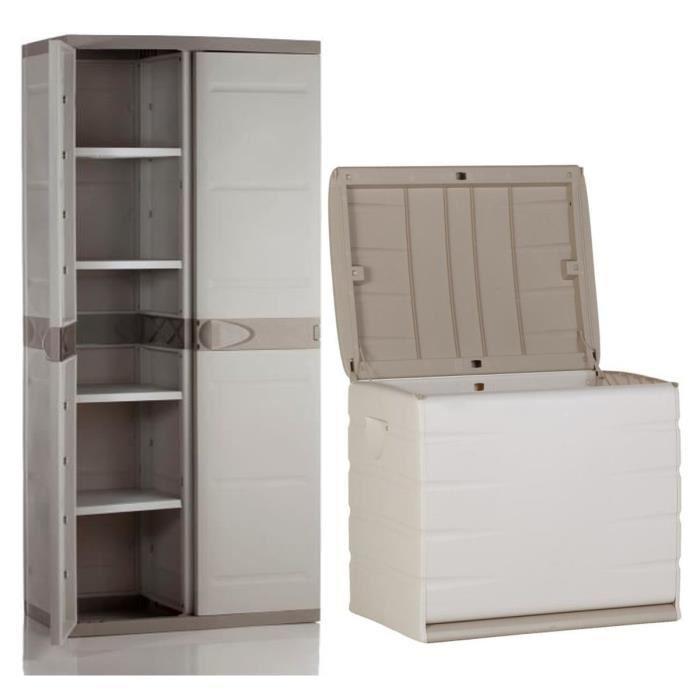 plastiken coffre en r sine 260l vide et armoire de. Black Bedroom Furniture Sets. Home Design Ideas