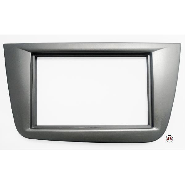 Facade autoradio 2DIN Seat Toledo ap04 - Gris Anthracite [Voiture : Seat > Toledo > Toledo III (5P - ap04)]