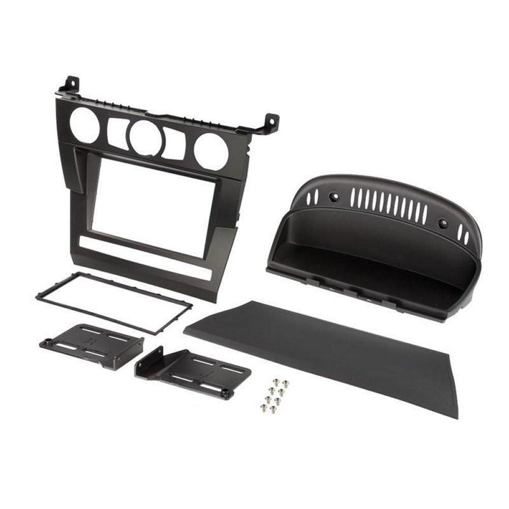 autoradio facade et supports bmw adnauto kit e60 03 07 noir. Black Bedroom Furniture Sets. Home Design Ideas