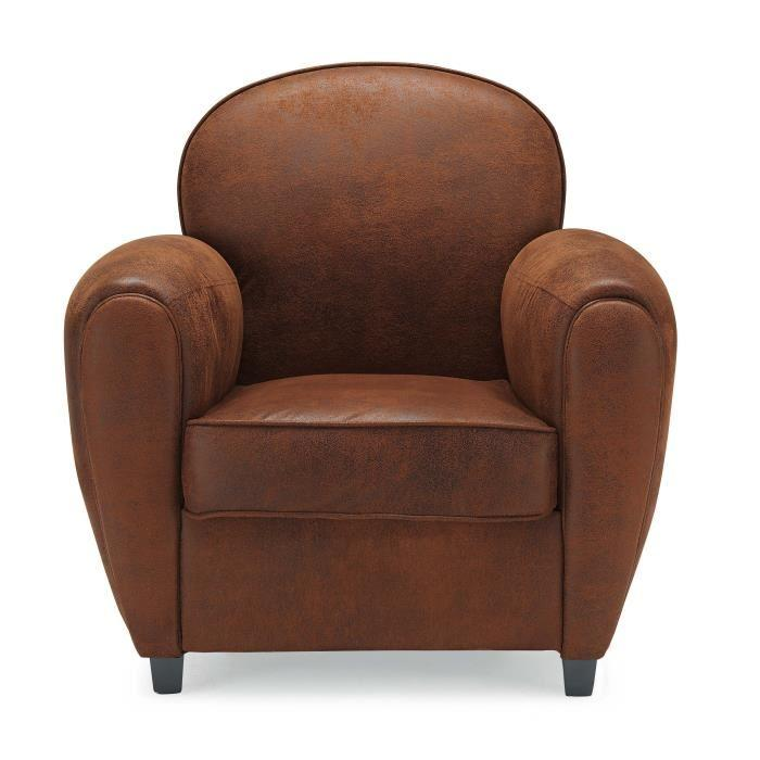 aucune dayton fauteuil club en tissu marron 378942. Black Bedroom Furniture Sets. Home Design Ideas