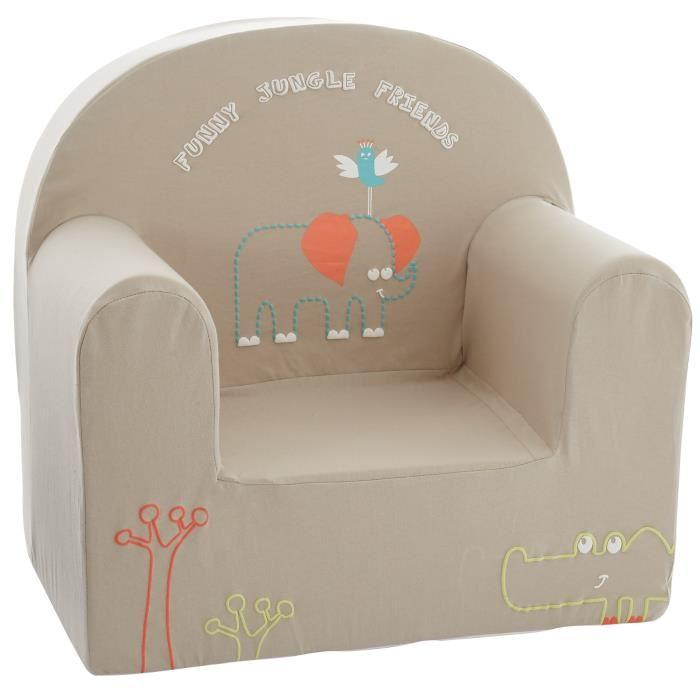 Babycalin fauteuil club b b d houssable jungle friends 25 - Fauteuil enfant jungle ...