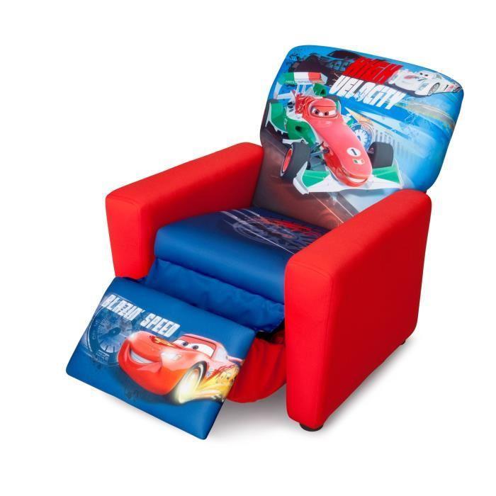 Delta children cars fauteuil inclinable en bois et mousse 242327 - Fauteuil en mousse enfant ...