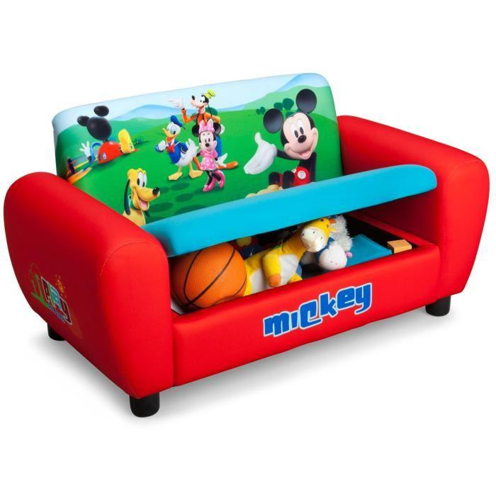 delta children mickey canap avec rangement 271518. Black Bedroom Furniture Sets. Home Design Ideas