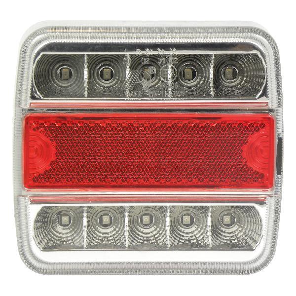 Feu arriere 5 functions 10 LED 100x10x37mm