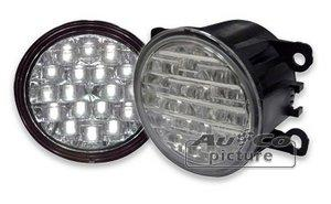 Feux diurnes - DRL ADNAuto - 2 Feux Diurnes - 18 LEDs - Ronds - Fonction feux de position - 90x90x69mm - Direct Fit