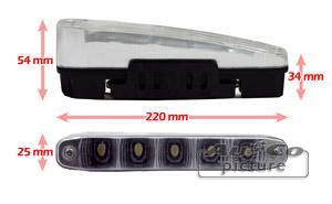 Feux diurnes - DRL ADNAuto - 2 Feux Diurnes - 5 LEDs - Fonction feux de position - 220x25x54mm - AuCo